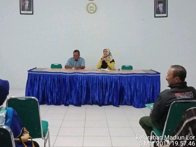 Kegiatan Rutin Pertemuan RT/RW di Kelurahan Madiun Lor